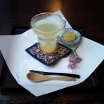 柚子茶+柚子わらびもちと柚子砂糖漬