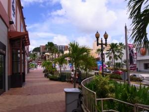 グアム中心部の風景