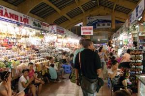 ベンタイン市場の風景
