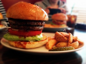 Reg-On Dinerのハンバーガー