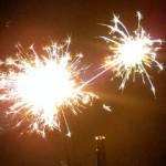 稲毛の公園で花火